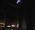 Оформление входной группы. Световая вывеска на здании с led подсветкой.