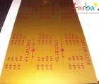 Ценник из акрила (аппликация, плоттерная порезка виниловых пленок)