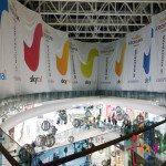Шторы из баннера для торгового центра